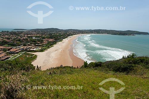 Vista da orla da Praia de Geribá  - Armação dos Búzios - Rio de Janeiro (RJ) - Brasil