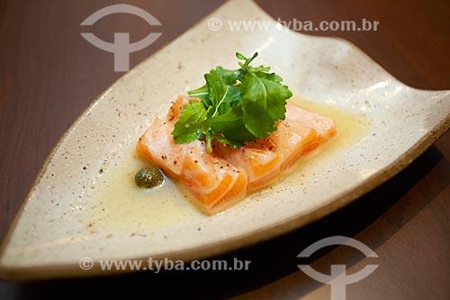Detalhe de prato em restaurante japonês  - Cabo Frio - Rio de Janeiro (RJ) - Brasil