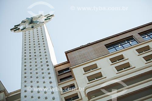 Relógio (1955) do Edifício Passeio (1934) - antigo Edifício Mesbla  - Rio de Janeiro - Rio de Janeiro (RJ) - Brasil