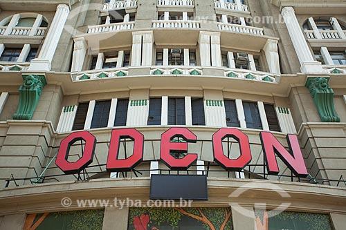 Fachada do Centro Cultural Luiz Severiano Ribeiro (1926) - mais conhecido como Cine Odeon  - Rio de Janeiro - Rio de Janeiro (RJ) - Brasil