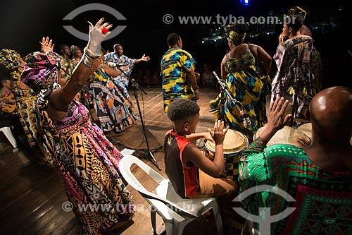 Show do Grupo Cultural Jongo da Serrinha durante o projeto Criolice na Arena Carioca Fernando Torres - Parque Madureira  - Rio de Janeiro - Rio de Janeiro (RJ) - Brasil