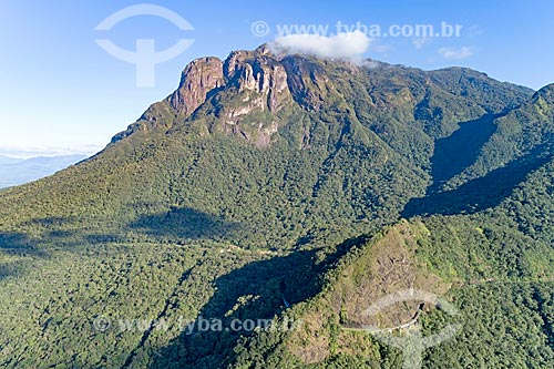 Conjunto Marumbi no Parque Estadual Pico do Marumbi com a Estrada de Ferro Curitiba Paranaguá  - Morretes - Paraná (PR) - Brasil