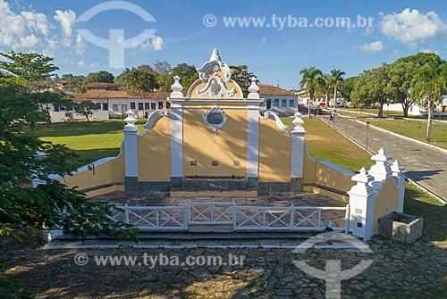 Foto feita com drone do Chafariz de Calda (1778) na Praça Doutor Brasil Caiado - também conhecida como Praça do Chafariz  - Goiás - Goiás (GO) - Brasil