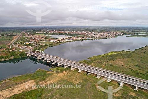 Ponte sobre o Rio São Francisco na Rodovia Preste Maia (BR-101) - divisa entre Sergipe e Alagoas  - Propriá - Sergipe (SE) - Brasil