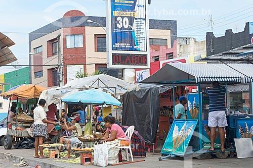 Comércio ambulante na cidade de Propriá  - Propriá - Sergipe (SE) - Brasil
