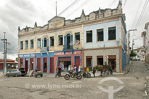 Lojas em casario na cidade de Propriá  - Propriá - Sergipe (SE) - Brasil