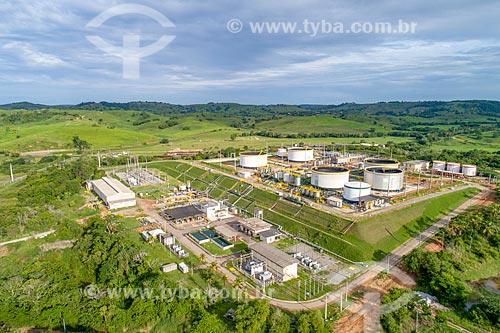Foto feita com drone de reservatórios de petróleo na cidade de Carmópolis  - Carmópolis - Sergipe (SE) - Brasil