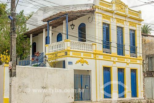 Fachada de casario no centro histórico da cidade de Laranjeiras  - Laranjeiras - Sergipe (SE) - Brasil