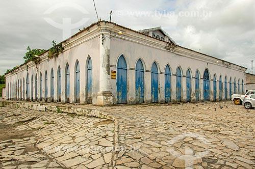 Fachada do Mercado Municipal de Laranjeiras - parte do conjunto arquitetônico conhecido como Quarteirão dos Trapiches  - Laranjeiras - Sergipe (SE) - Brasil