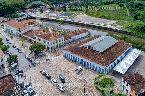 Foto feita com drone do conjunto arquitetônico conhecido como Quarteirão dos Trapiches - hoje abriga Campus da Universidade Federal de Sergipe na cidade de Laranjeiras  - Laranjeiras - Sergipe (SE) - Brasil