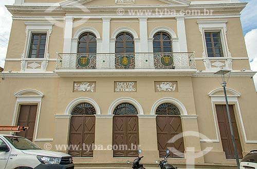 Fachada do Teatro Sete de Setembro  - Penedo - Alagoas (AL) - Brasil