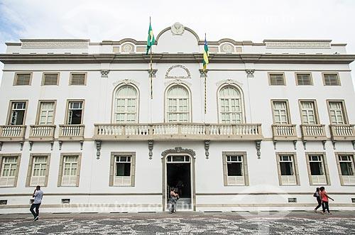 Fachada do Palácio Fausto Cardoso (1868) - antiga sede da Assembleia Legislativa do Estado de Sergipe e atual Escola do Legislativo Deputado João de Seixas Dória  - Aracaju - Sergipe (SE) - Brasil