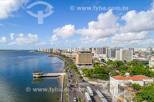 Foto feita com drone da Ponte do Imperador às margens do Rio Sergipe  - Aracaju - Sergipe (SE) - Brasil